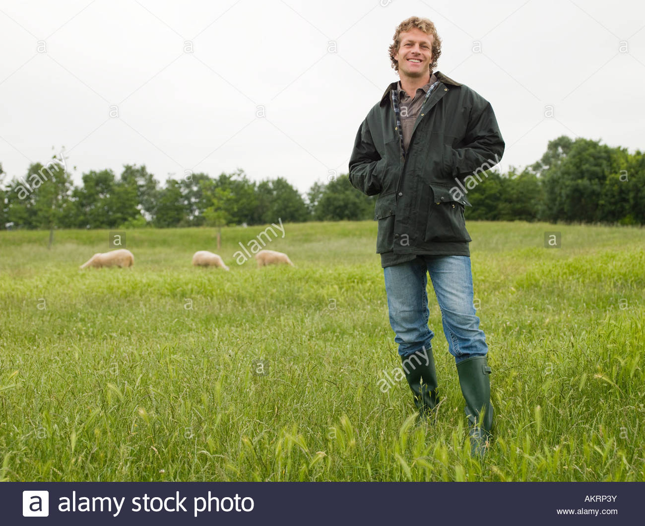 Portrait of a farmer - Stock Image