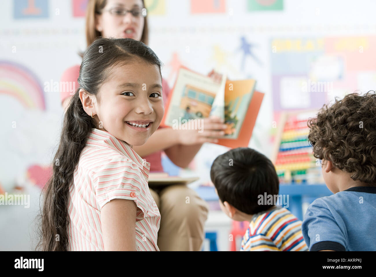 Children in a lesson Stock Photo