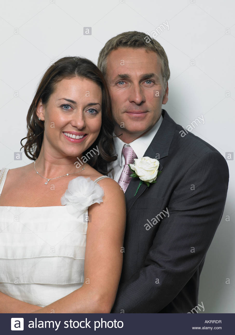 A portrait of the bride and groom - Stock Image