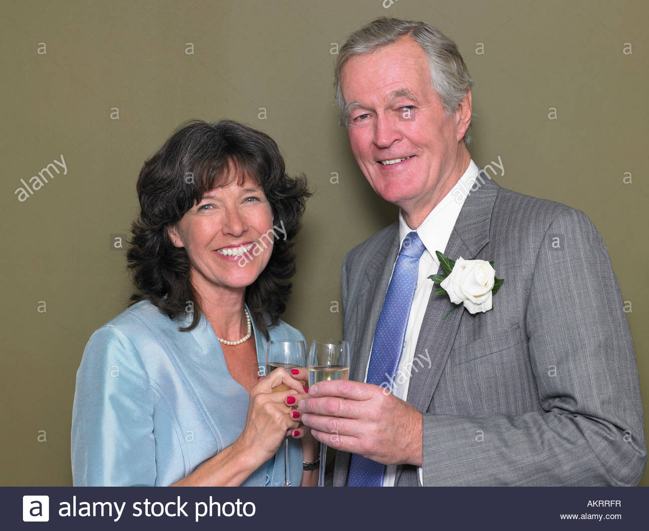 Portrait of a man and a woman - Stock Image