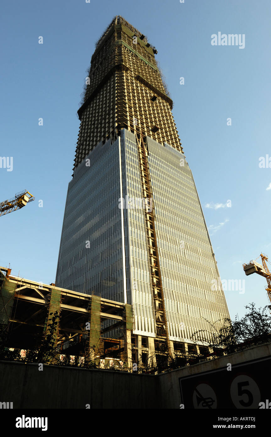 China World Trade Center the tallest building in Beijing 09 Nov 2007 - Stock Image