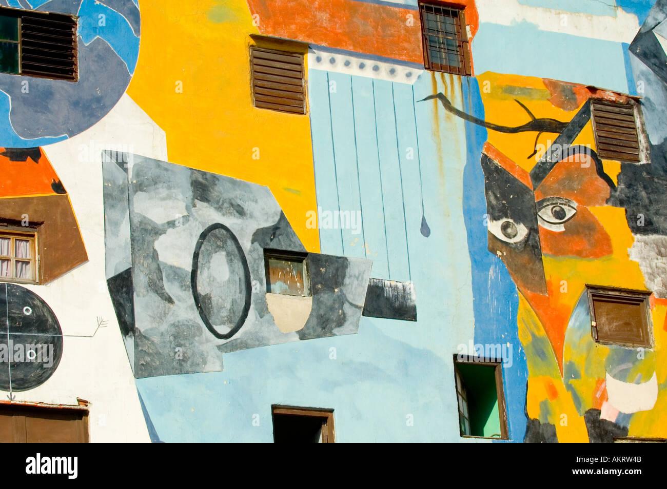 Mural Callejon de Hamel Havana - Stock Image