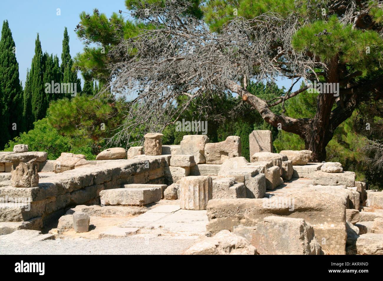 Filerimos ruins, Rhodes Island - Stock Image