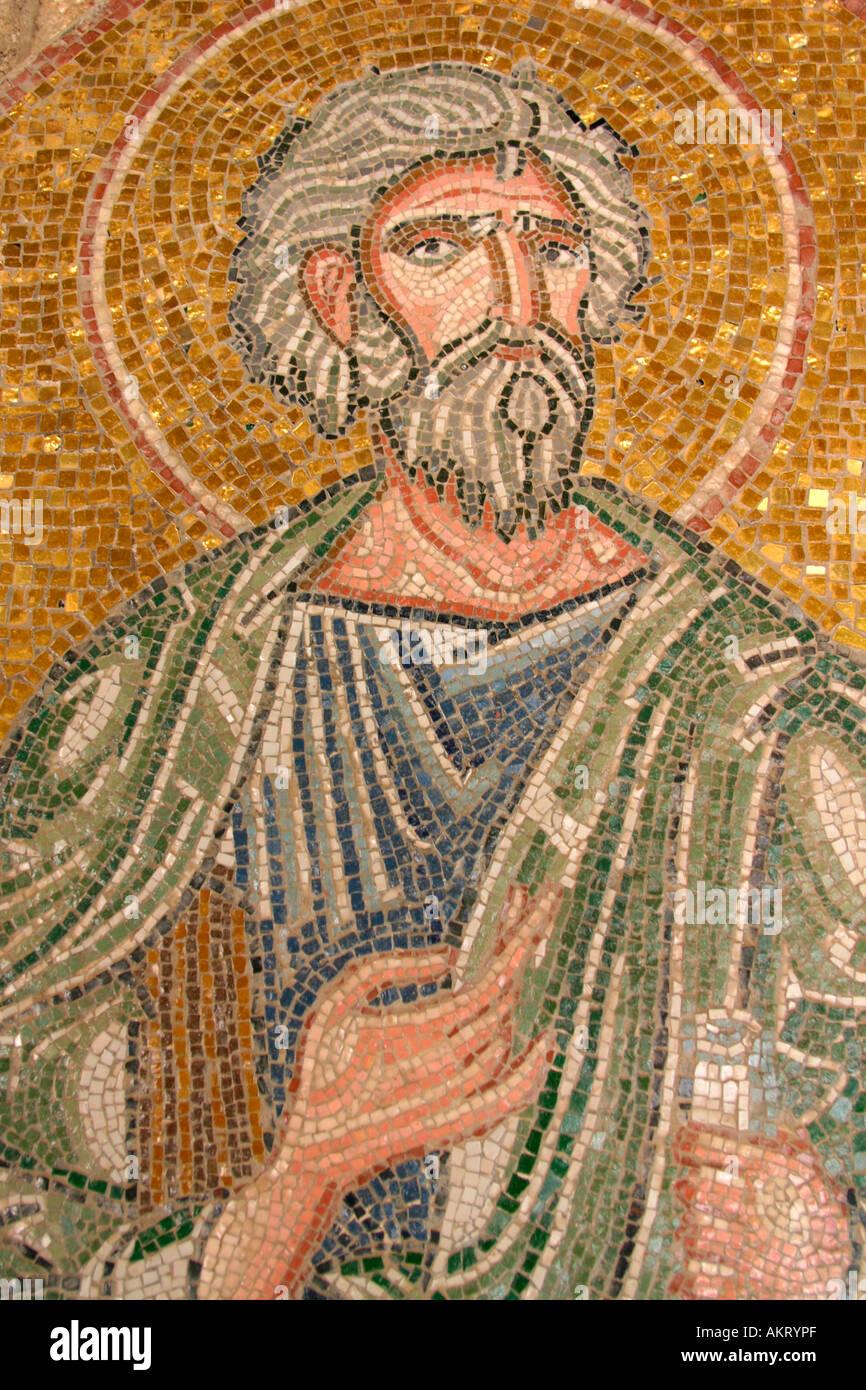 A mosaic at Filerimos, Rhodes - Stock Image