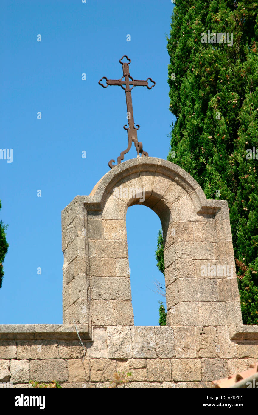 Detail of the church in Filerimos, Rhodes Island - Stock Image