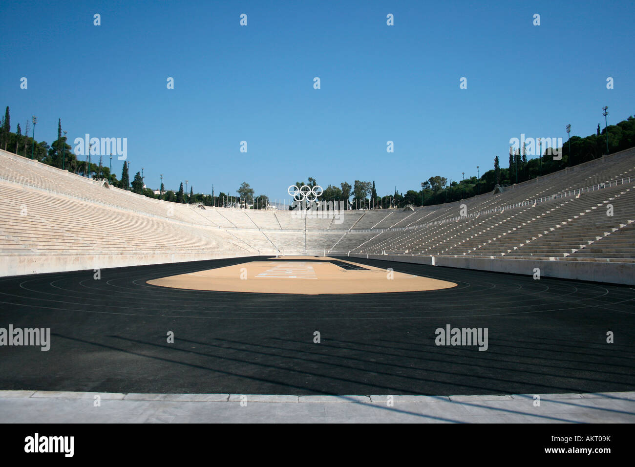 kalimarmaro stadium in athens greece the stadium where the first new olympic games started Stock Photo