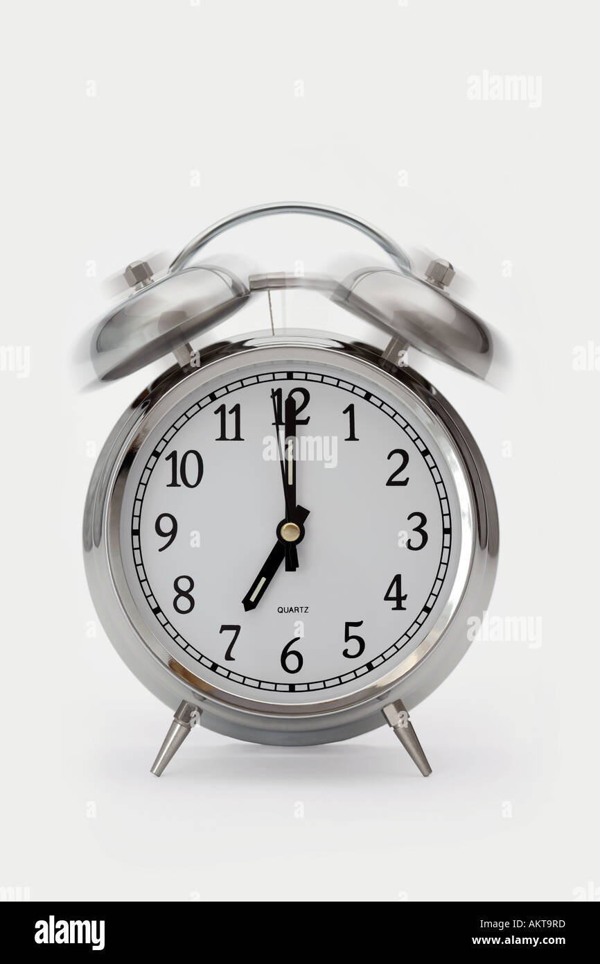 Ringing alarm clock - Stock Image