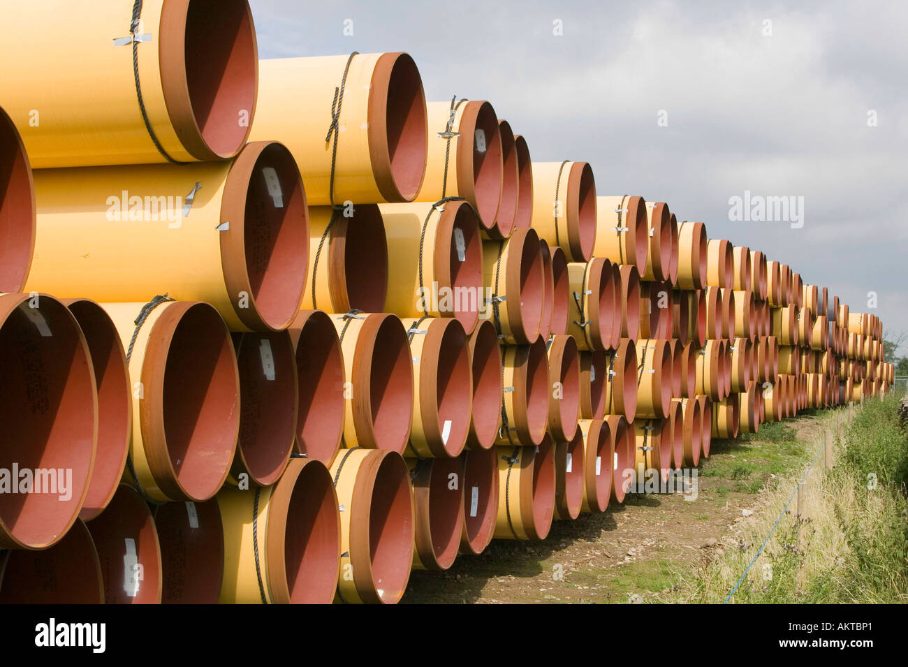 pipes ready to be laid on a massive new gas pipeline project