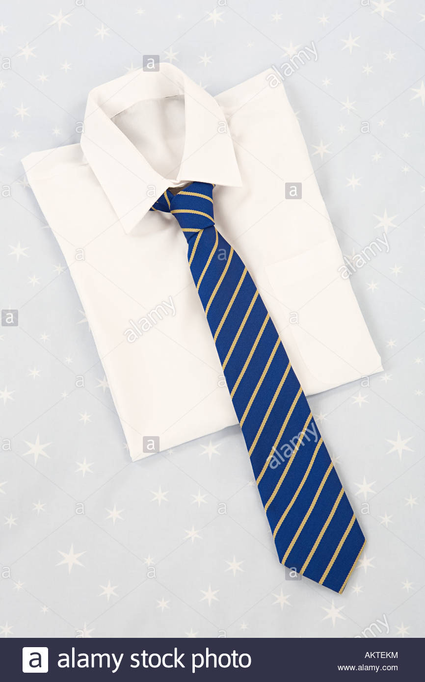 School shirt and tie - Stock Image