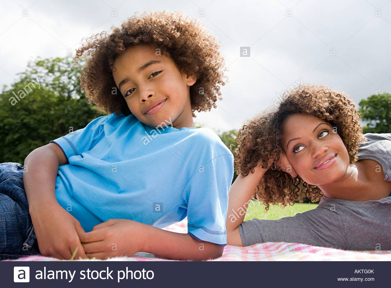 Boy and mother - Stock Image