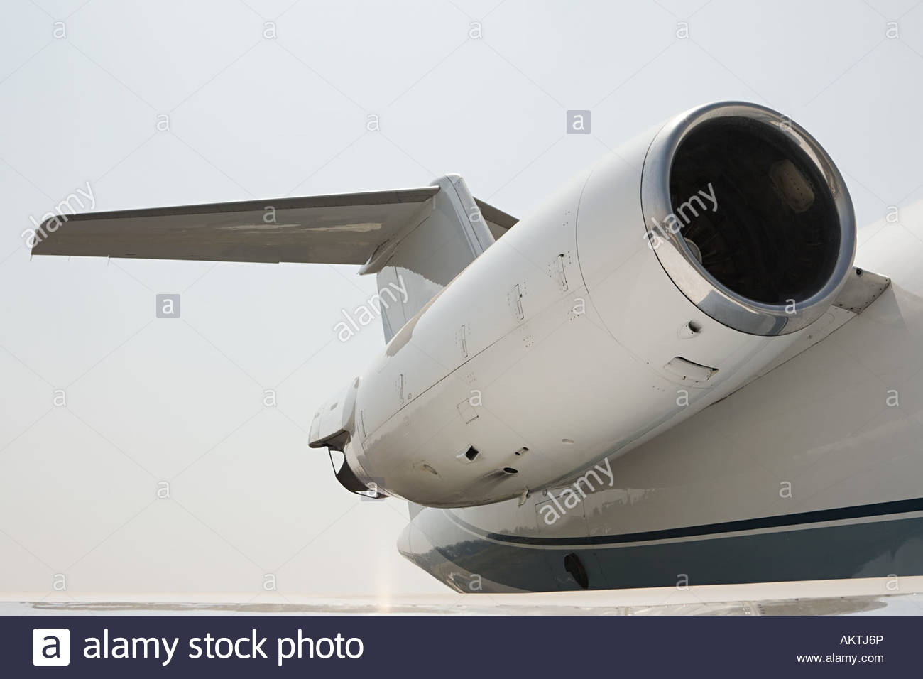 Engine of an private airplane - Stock Image