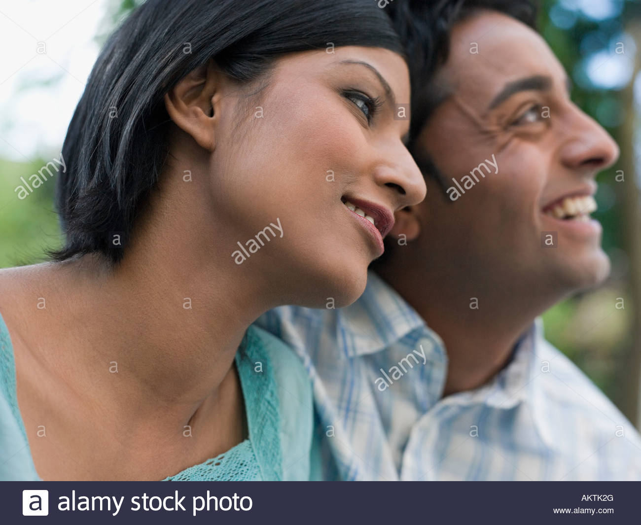 Contented couple - Stock Image