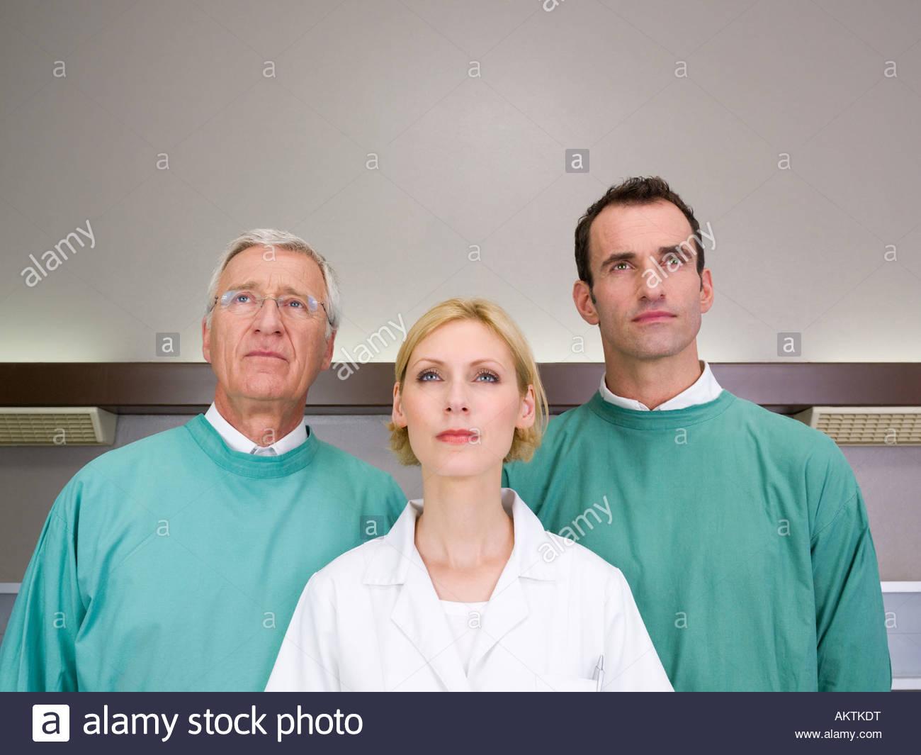 Portrait of hospital staff - Stock Image