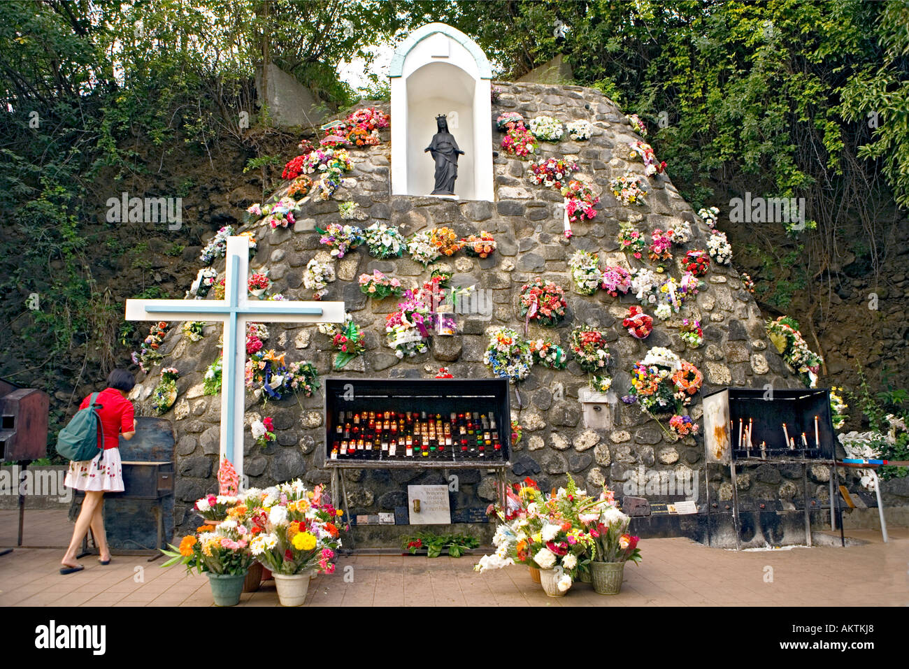 Réunion Island - Black Virgin Shrine, Grotto. (Lieu de Pèlerinage, grotte de La Vierge Noire) - Stock Image
