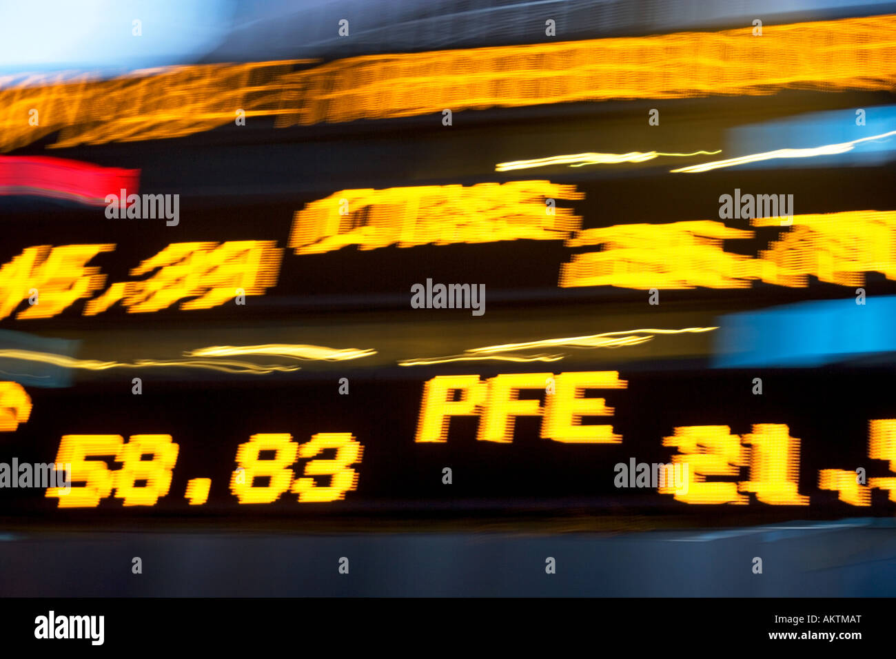 Stock ticker - Stock Image