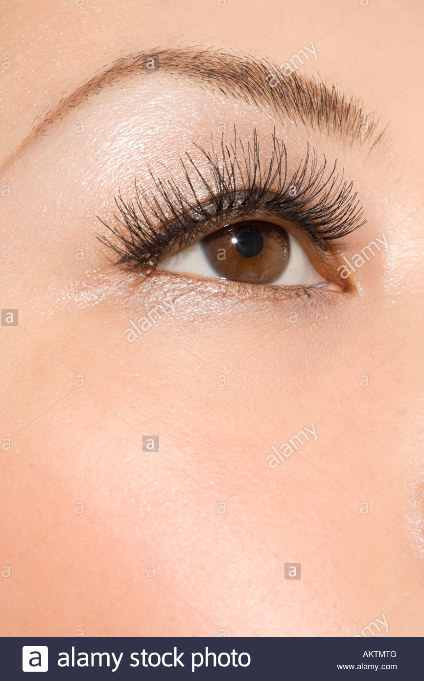 Close up of a womans eye - Stock Image