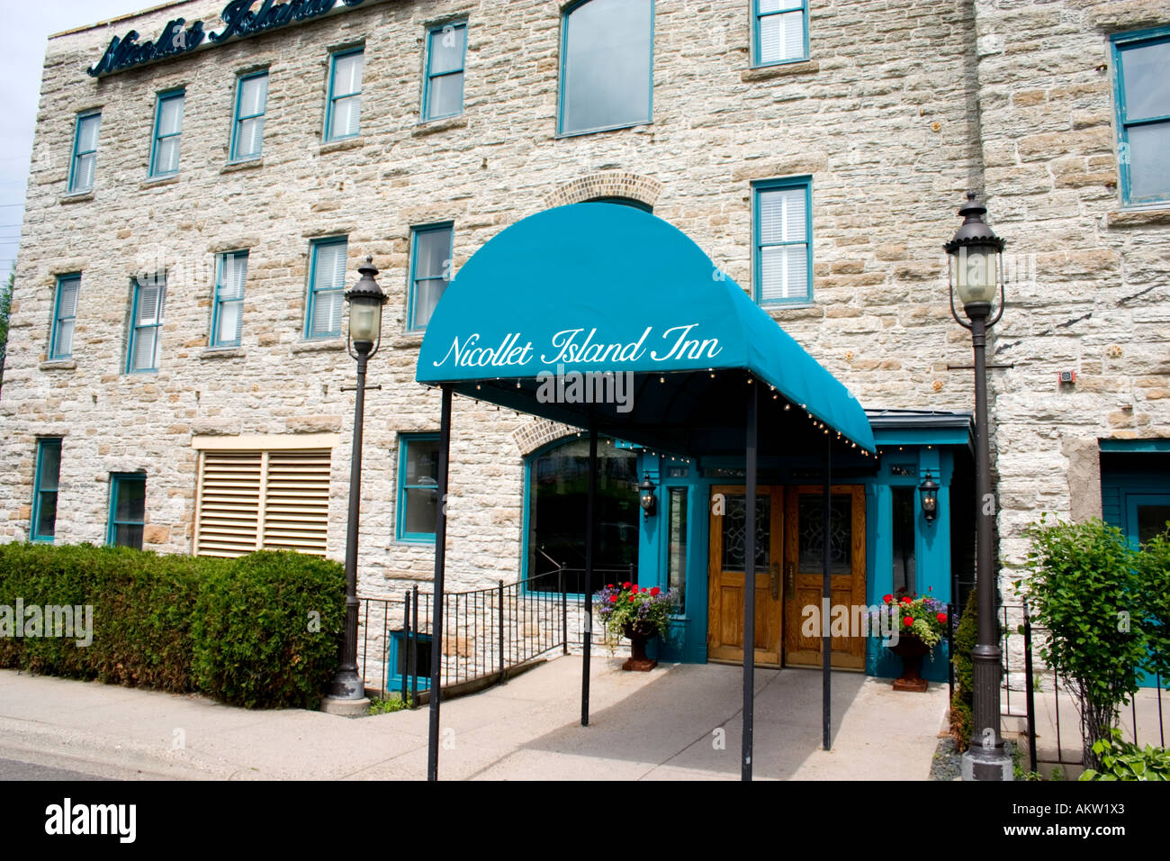 Entry To The Historic Nicollet Island Inn Minneapolis Minnesota Mn