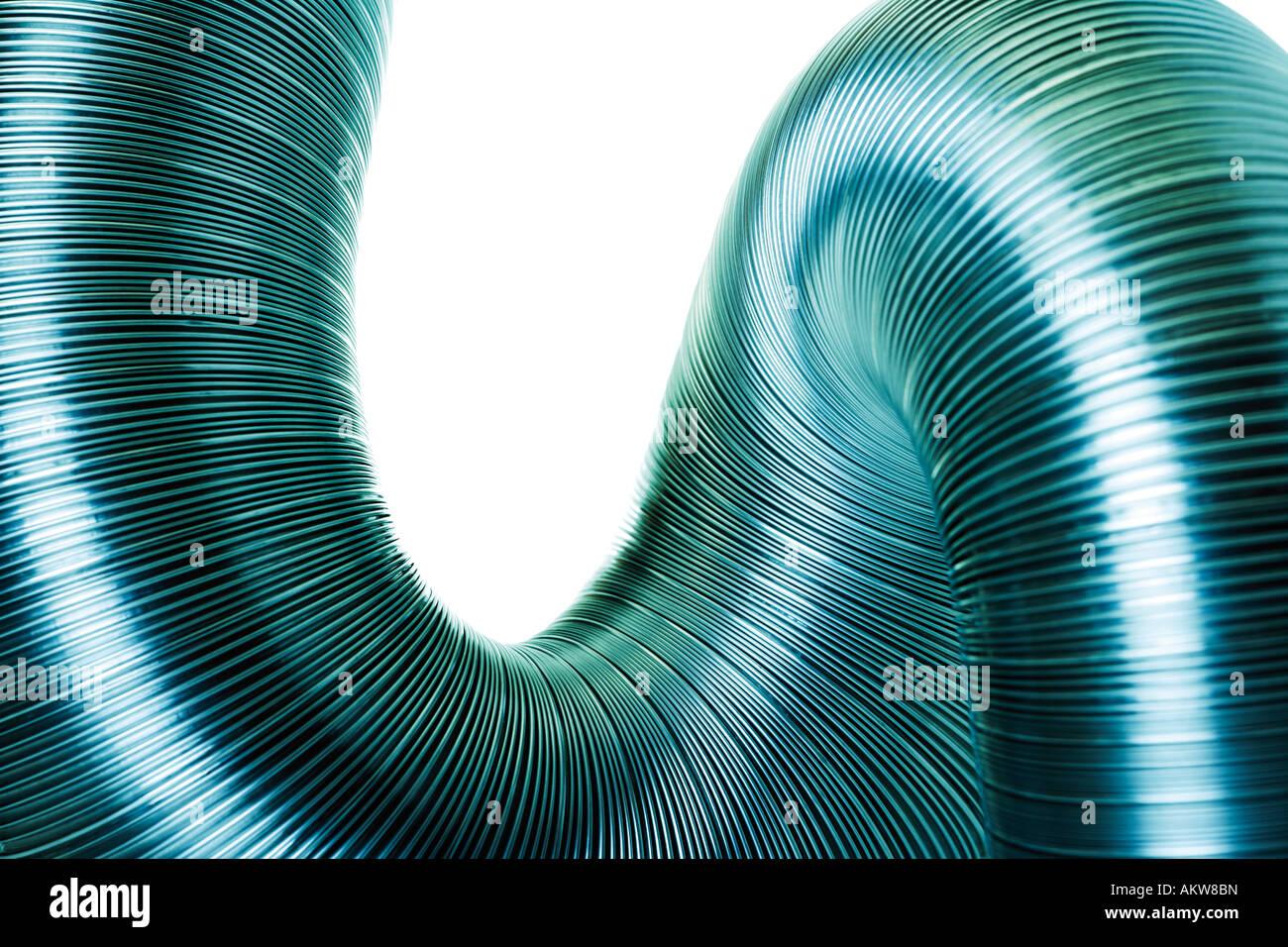 Aluminium tube, close-up - Stock Image