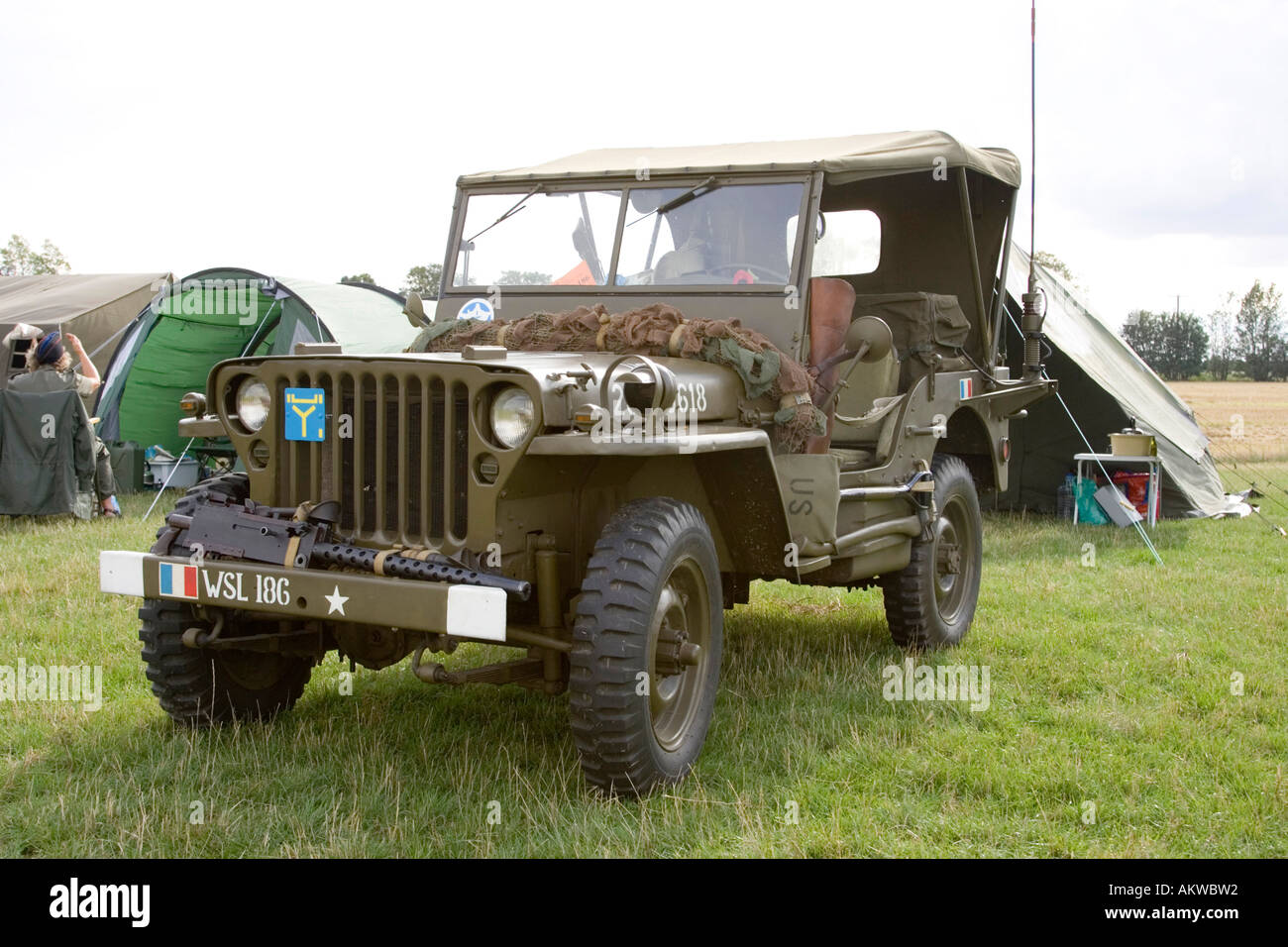 WW2 army Jeep truck on show in UK - Stock Image