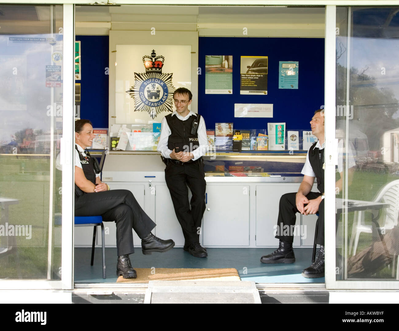 Community Policing publicity display, August 2006 in Suffolk, UK - Stock Image