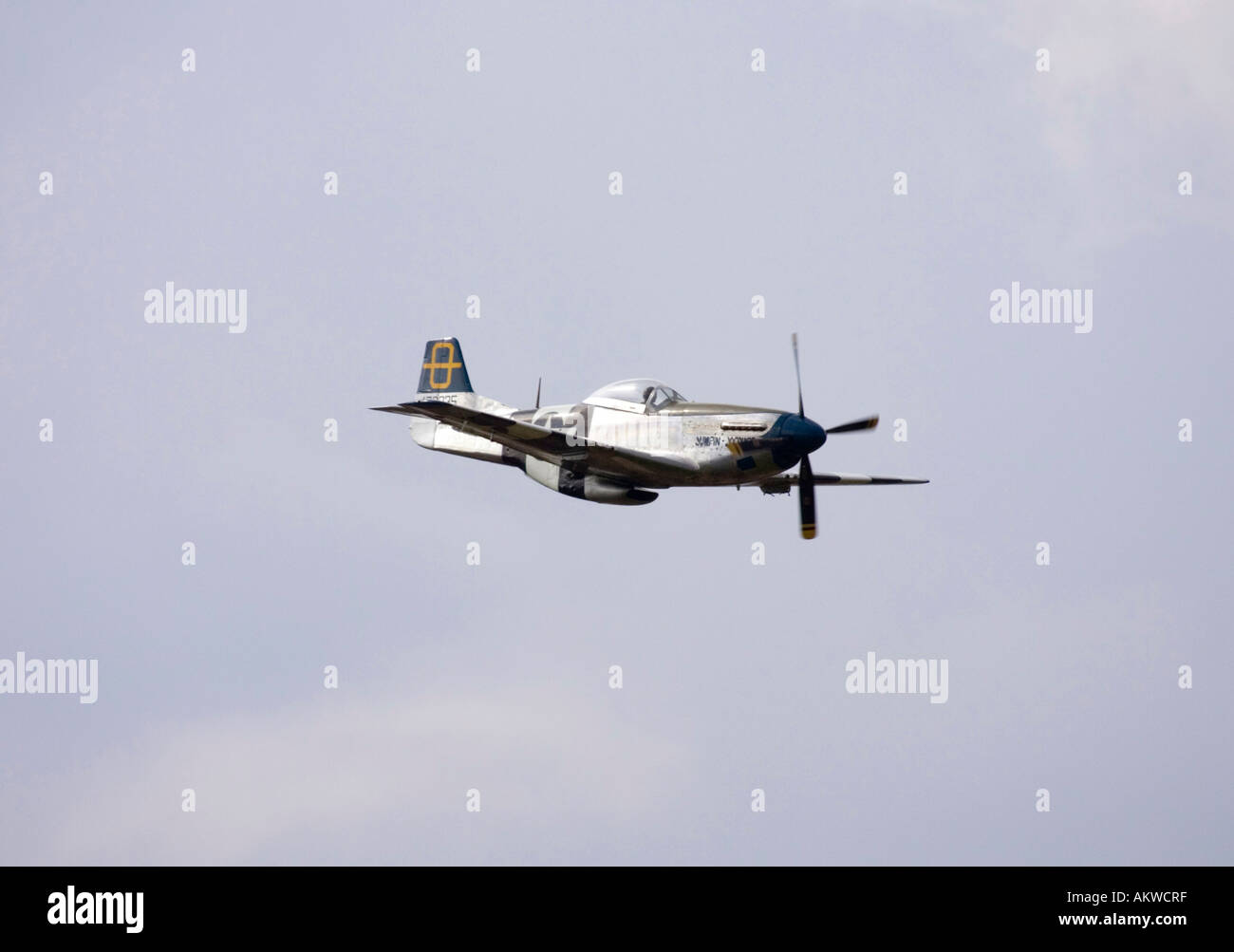 P-51 Mustang fighter aircraft at Rougham airshow August 2006 in Suffolk, UK - Stock Image
