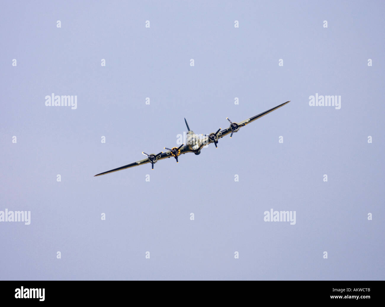 the famous Sally B B-17 Bomber at Rougham airshow August 2006 in Suffolk, UK Stock Photo