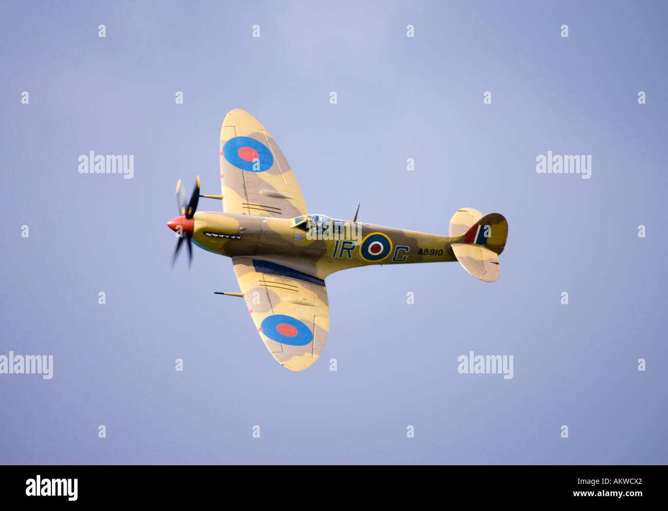 Spitfire fighter aircraft at Rougham airshow August 2006 in Suffolk, UK - Stock Image