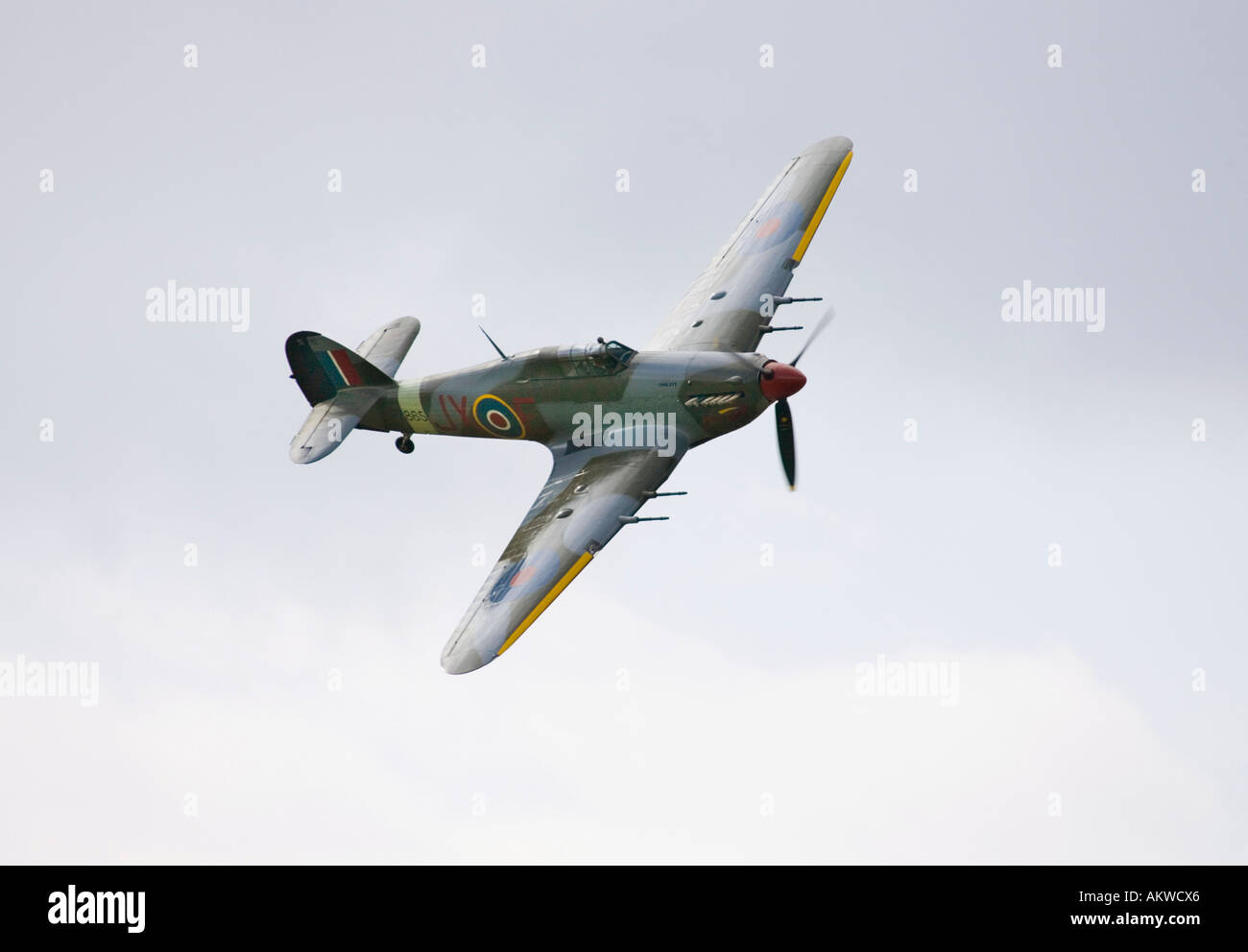 Hawker Hurricane fighter aircraft at Rougham airshow August 2006 in Suffolk, UK - Stock Image