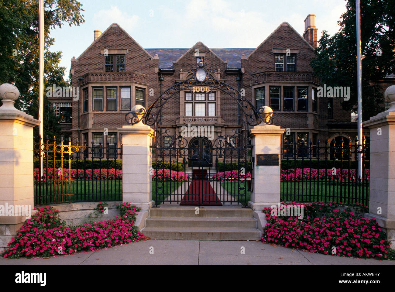 Front Entrance To Governor S Mansion In St Paul Minnesota