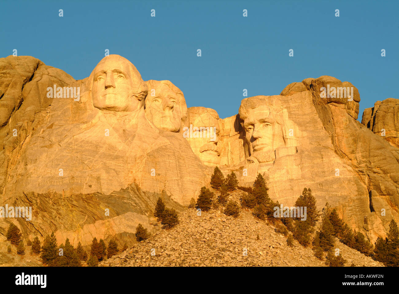 Mount Rushmore National Monument in the Blackhills of South Dakota Stock Photo