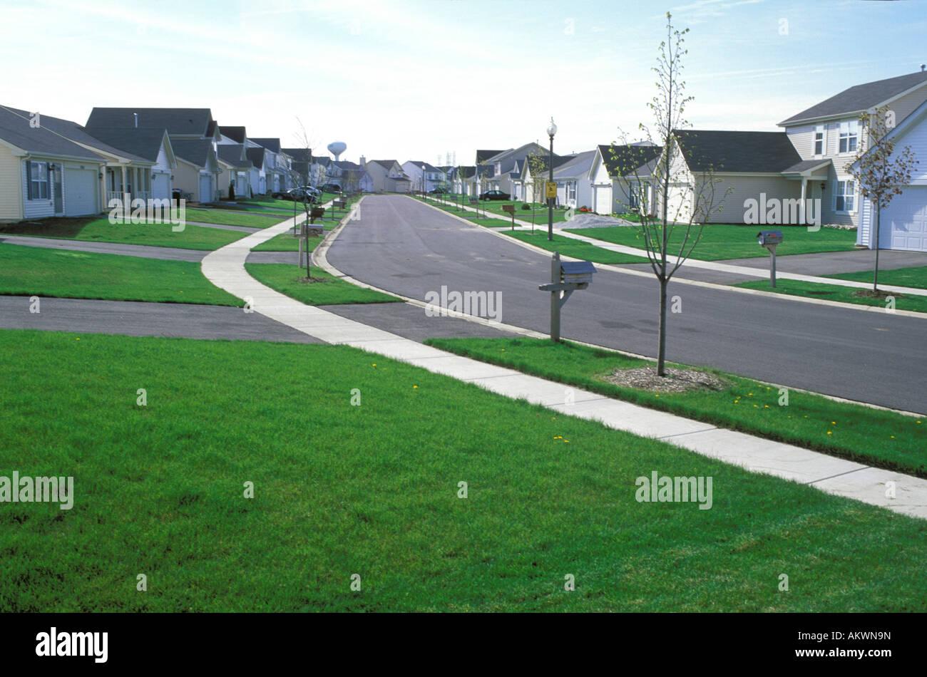 Suburban neighborhood - Stock Image