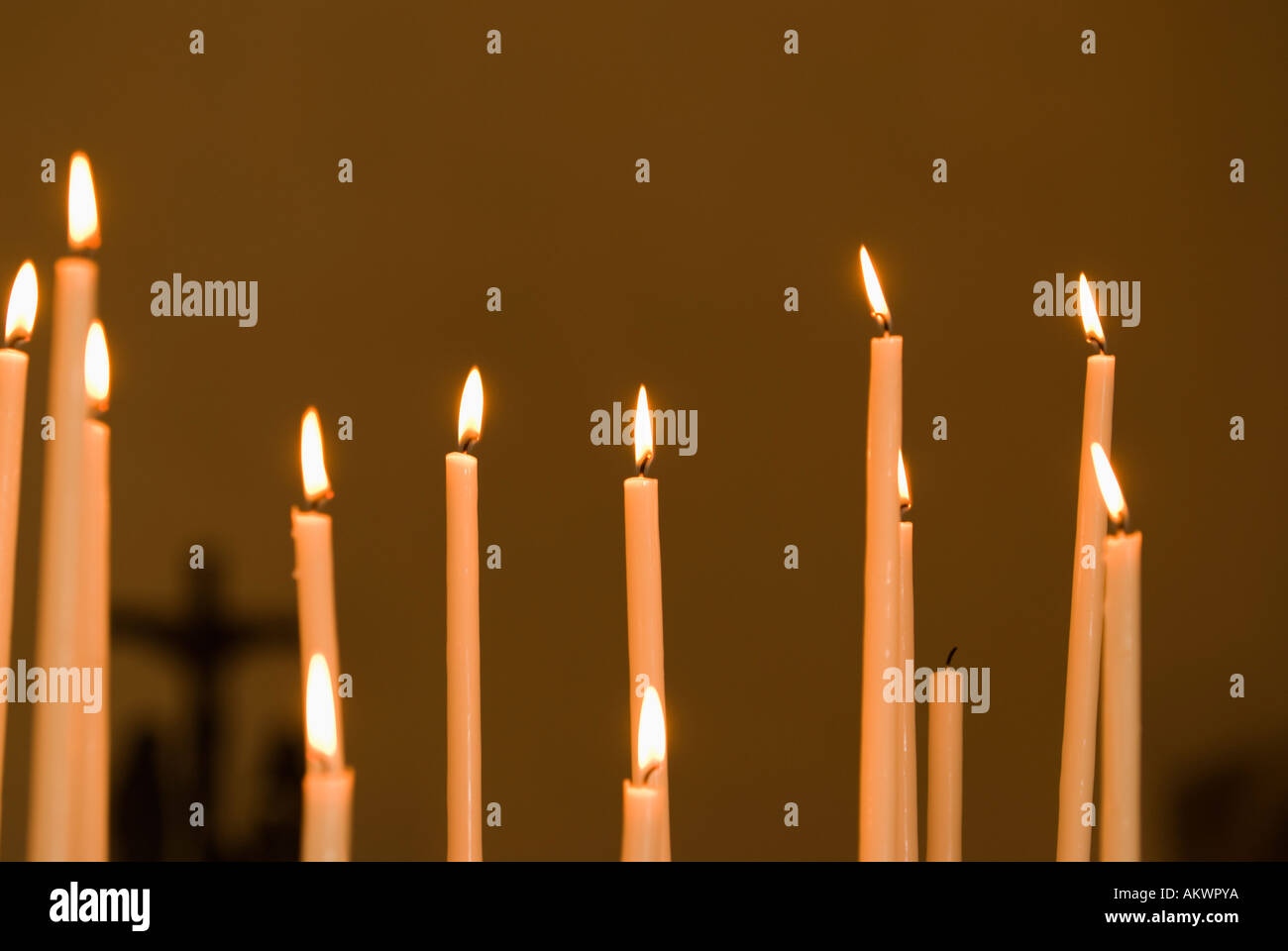 Still life, Candles - Stock Image