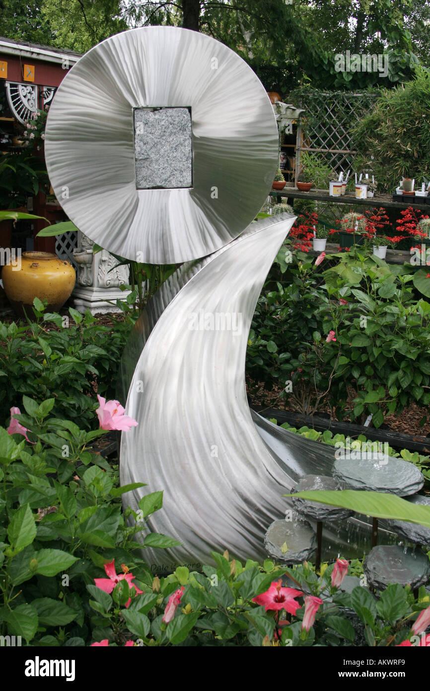 Sculpted Fountain American Aquatic Gardens New Orleans Louisiana