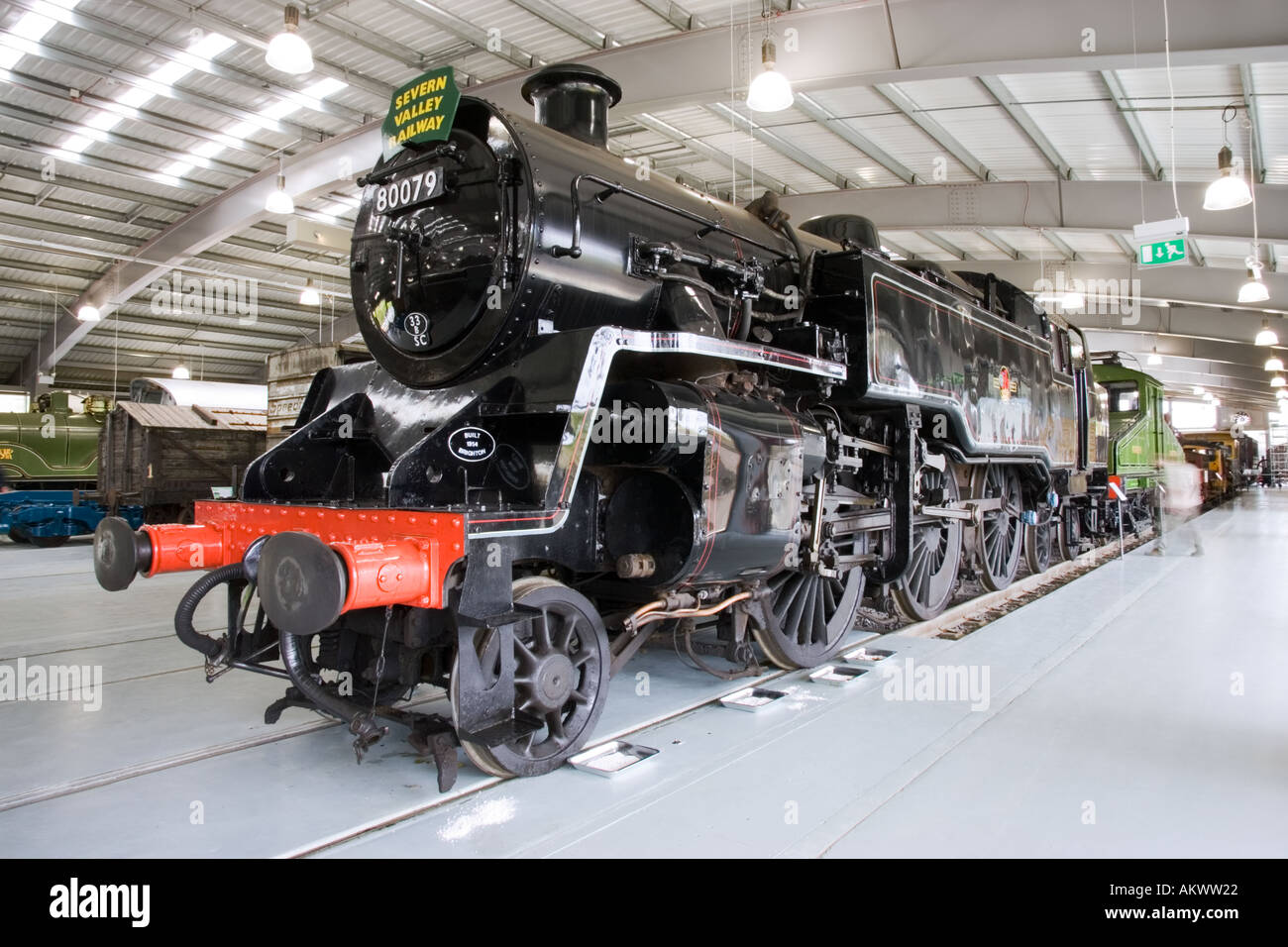 Severn Valley Railway locomotive at Locomotion museum Shildon Durham UK - Stock Image