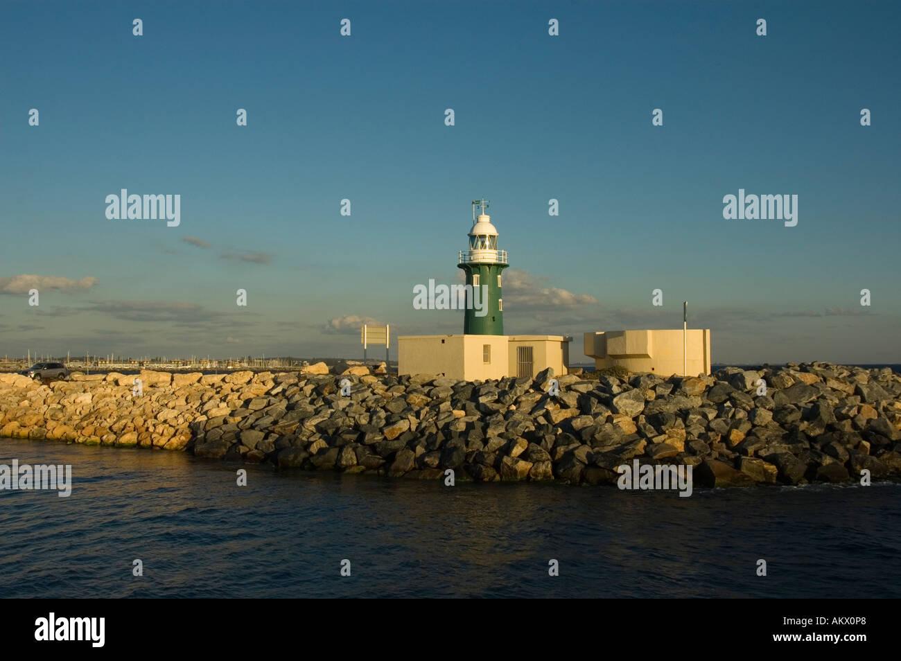 Lighthouse, horbour in Freemantle, Australia - Stock Image