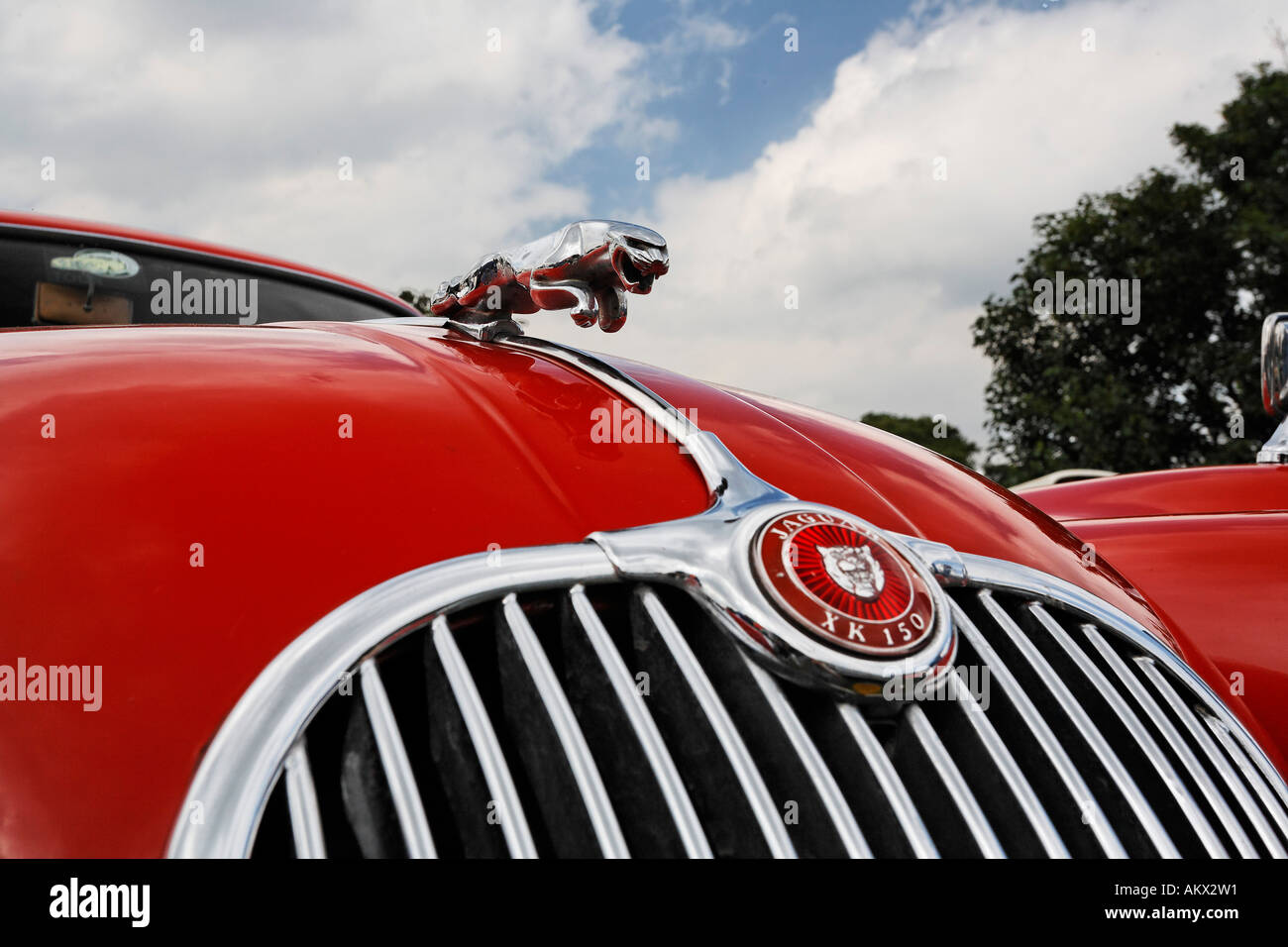 Jaguar XK 150, vintage display, Cheshire, England - Stock Image