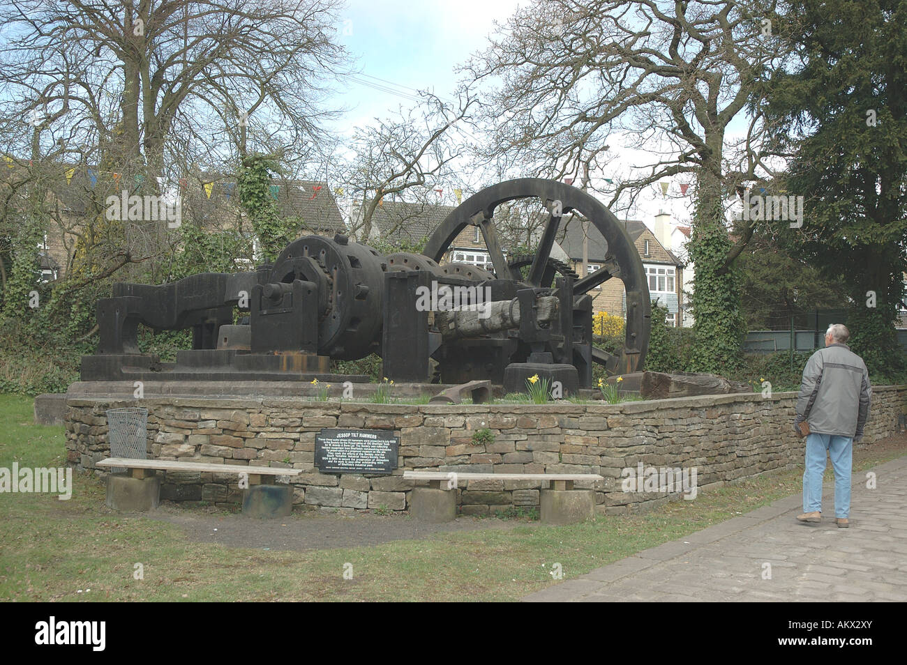 Jessop Tilt Hammer, Abbeydale Industrial Hamlet Working Museum, Abbeydale Road South, Sheffield, South Yorkshire, - Stock Image