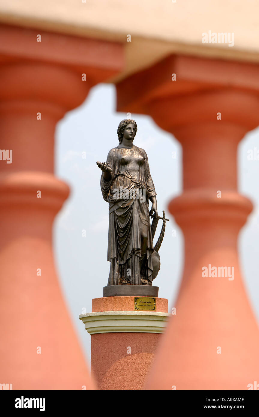 Monument of Euterpe, muse of music and of lyric poetry, Manaus, Brazil - Stock Image