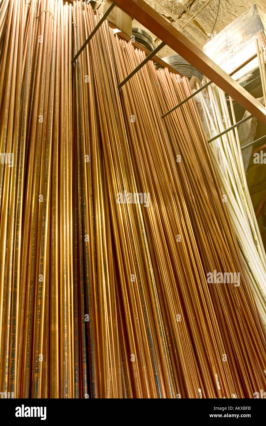 royalty free photo image stock ladder on cable pipe install rack