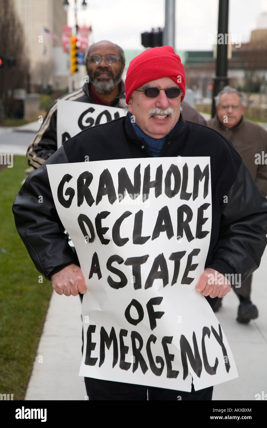 Protest Against Home Foreclosures - Stock Image