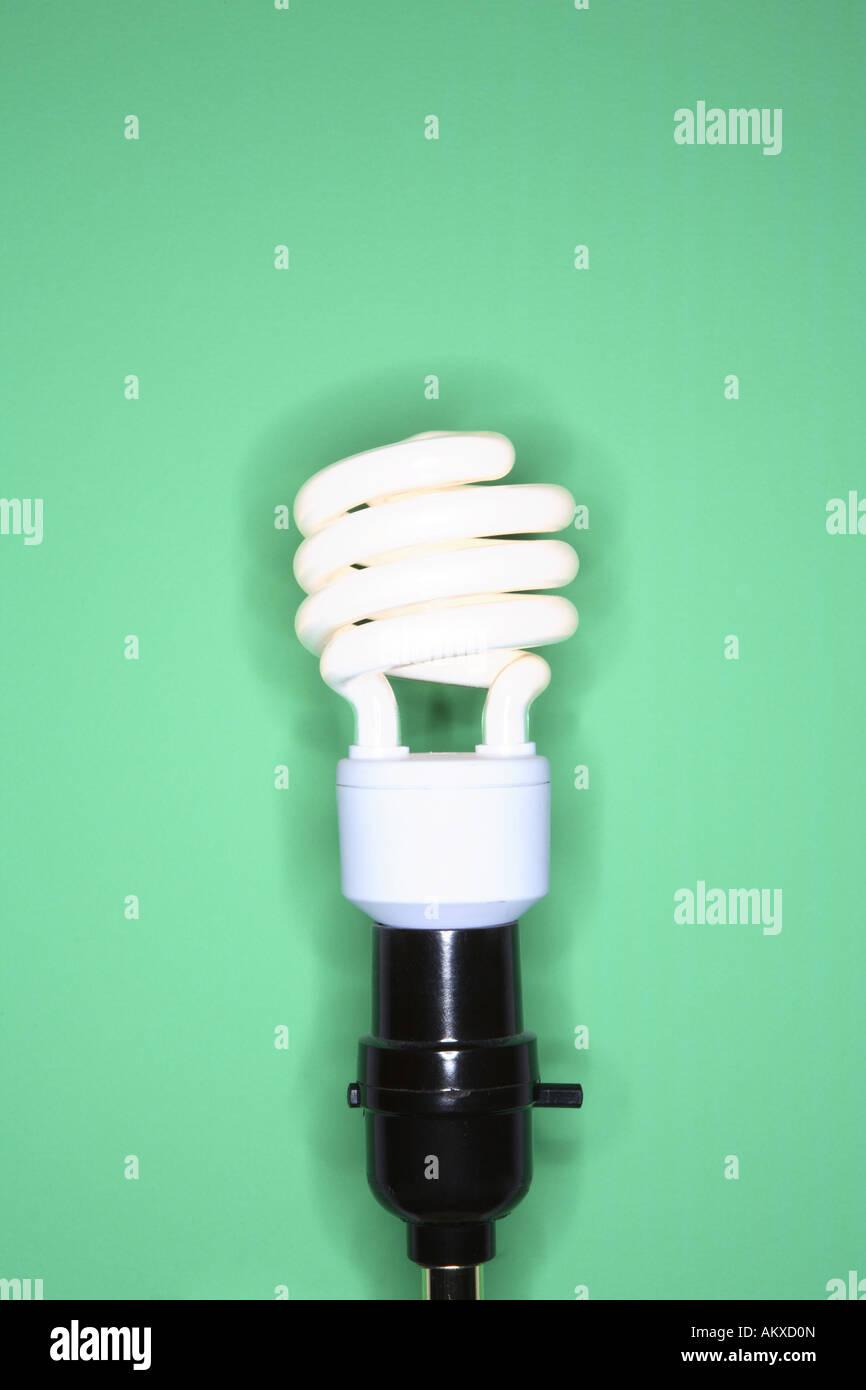 Energy efficient lightbulb - Stock Image
