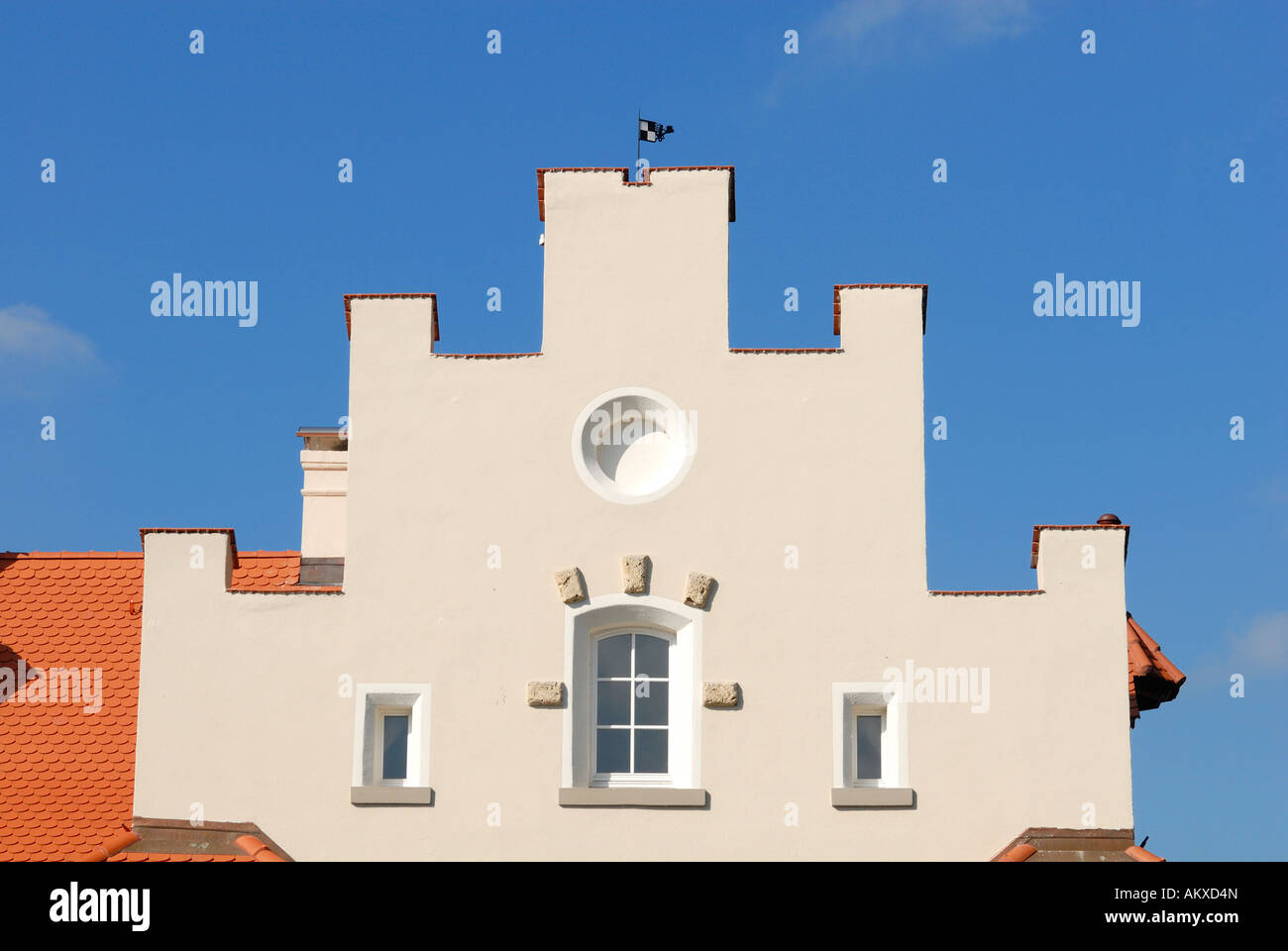 Sigmaringen - a detail view from the historical hydro electric power station - Baden-Wuerttemberg, Germany, Europe. - Stock Image