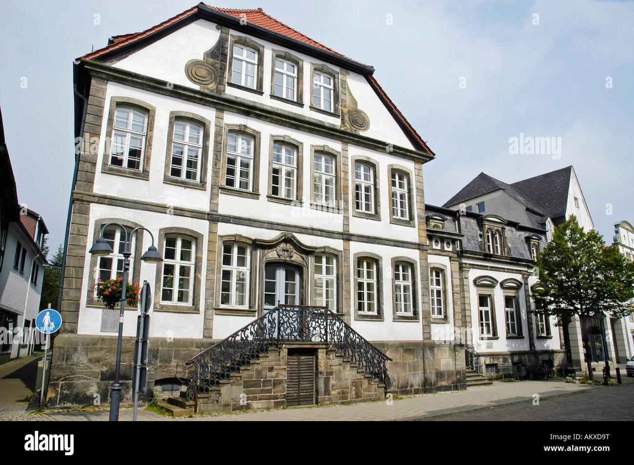 Baroque townhouse, Horn-Bad Meinberg, North Rhine-Westphalia, Germany - Stock Image