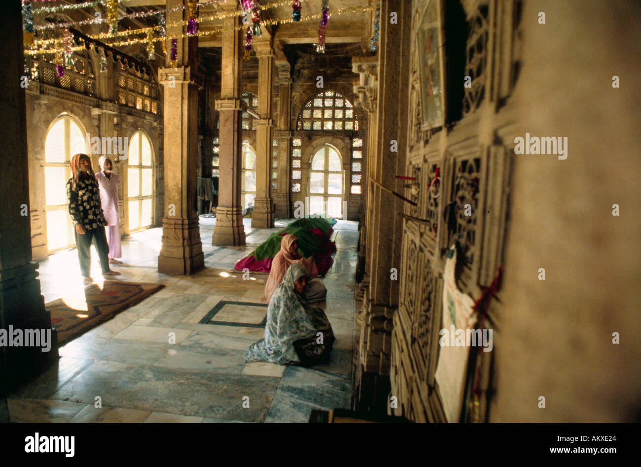 The interior of the Shah Alam Roza tombs Ahmedabad India - Stock Image