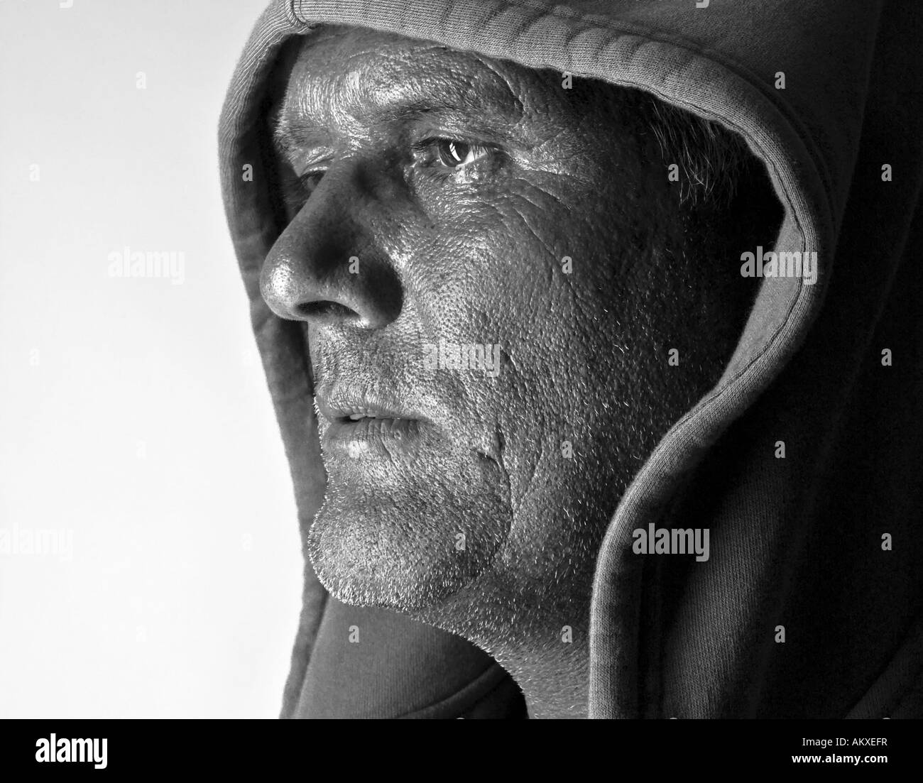 Portrait of an athletic man - Stock Image