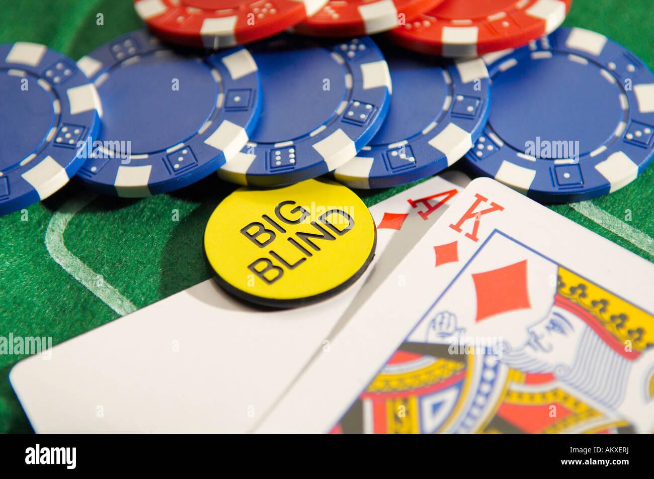 Texas Hold'em Poker Big Blind - Stock Image