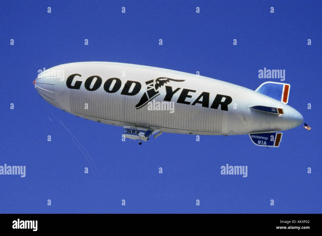 Goodyear Blimp - Stock Image