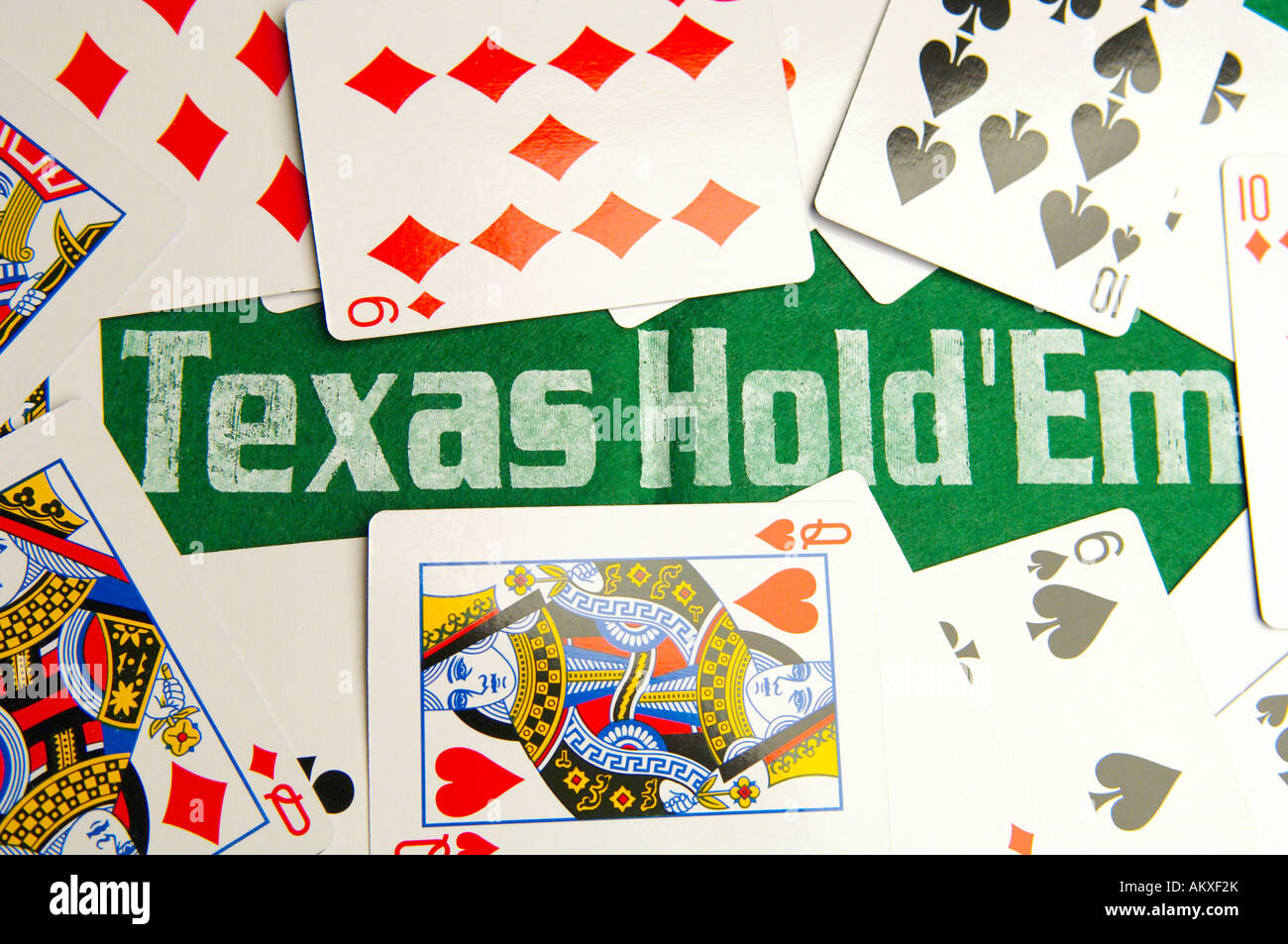 Texas Hold'em Poker Game - Stock Image