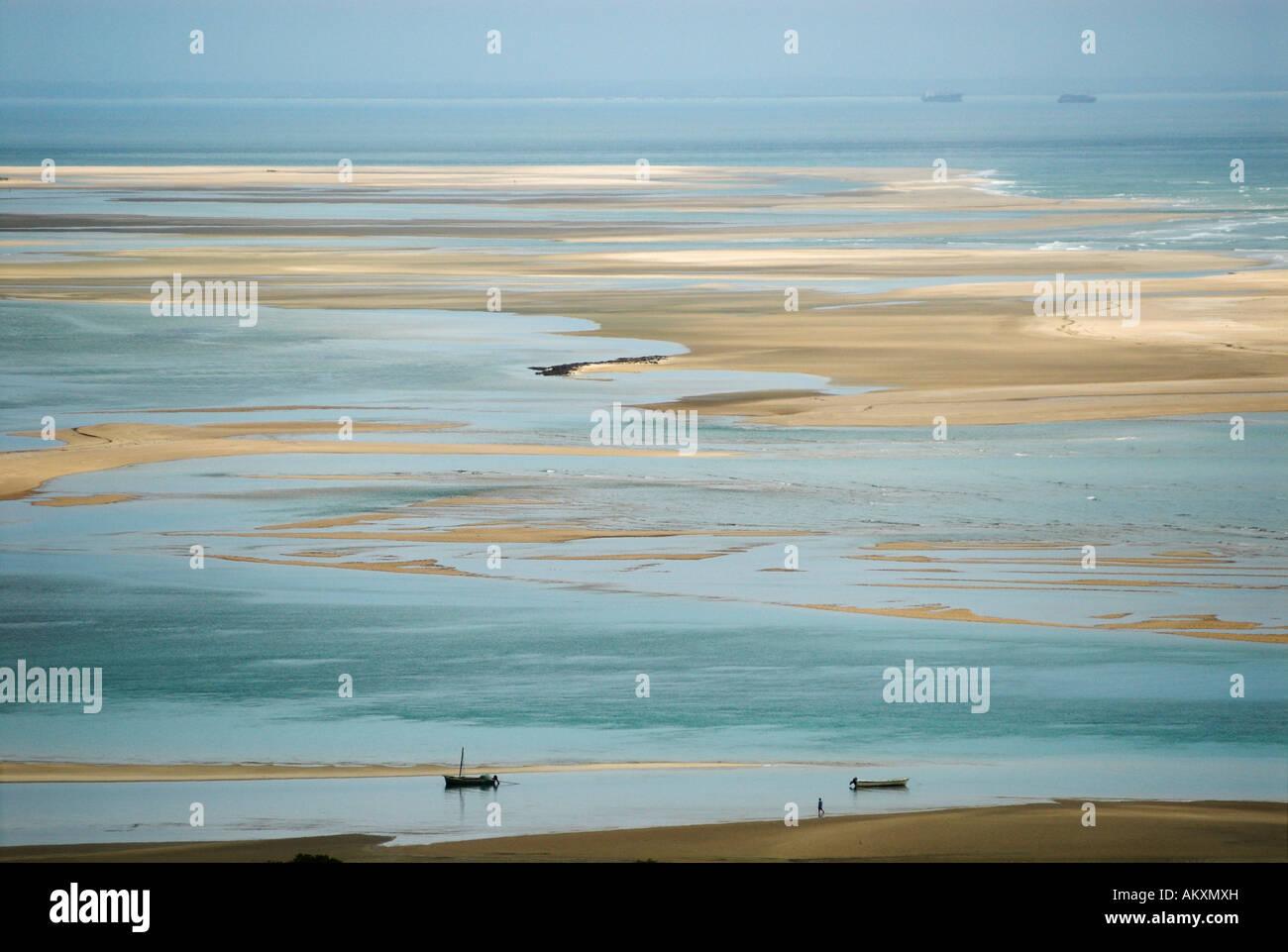 Coast at Inhaca Island, Mozambique, Africa Stock Photo