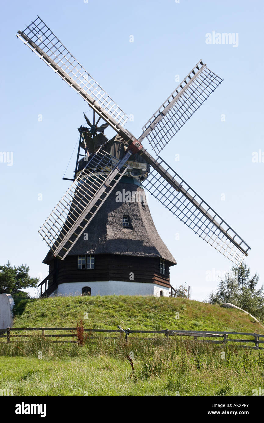 German windmill, Gifthorn, Lower Saxony, Germany - Stock Image